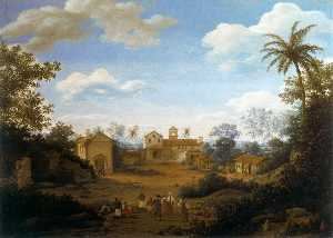 Frans Jansz Post - The Church of Sts Cosmas and Damian and the Franciscan Monastery at Igaraçu, Brazil