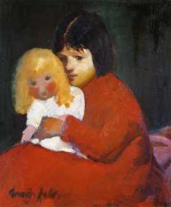 George Benjamin Luks - Girl with Doll