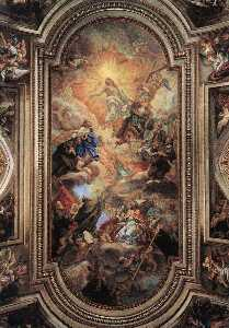 Giovanni Battista Gaulli (Baciccio) - Apotheosis of the Franciscan Order