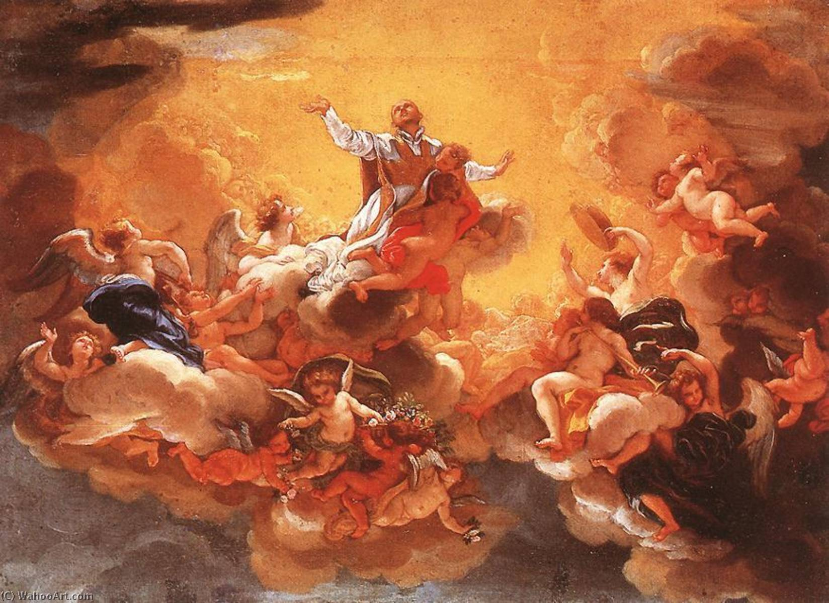 Apotheosis of St Ignatius, Oil On Canvas by Giovanni Battista Gaulli (Baciccio) (1639-1709)