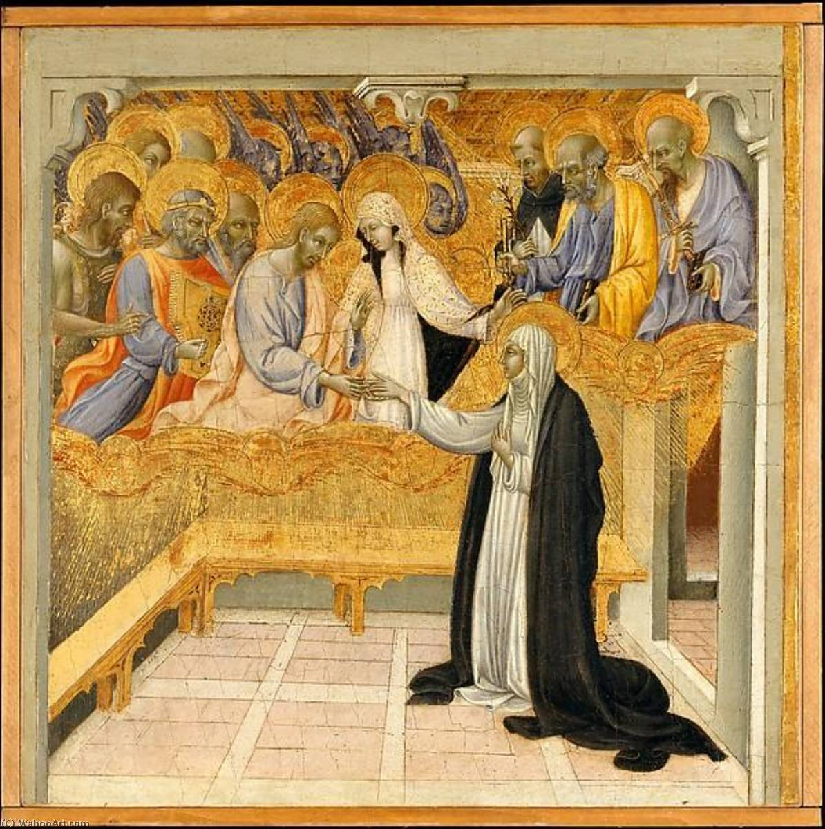 The Mystic Marriage of Saint Catherine of Siena by Giovanni Di Paolo Di Grazia (1403-1482) | Famous Paintings Reproductions | WahooArt.com