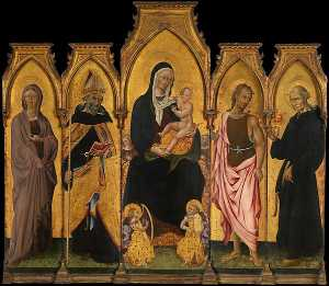 Giovanni Di Paolo Di Grazia - Madonna and Child with Saints
