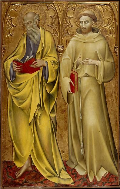 Saints Matthew and Francis, 1435 by Giovanni Di Paolo Di Grazia (1403-1482) | Art Reproduction | WahooArt.com