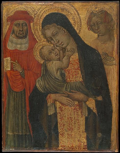 Madonna and Child with Saints Jerome and Agnes, 1465 by Giovanni Di Paolo Di Grazia (1403-1482) | Famous Paintings Reproductions | WahooArt.com