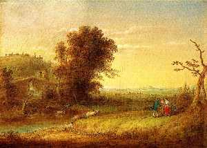 John Quidor - Landscape with Figures