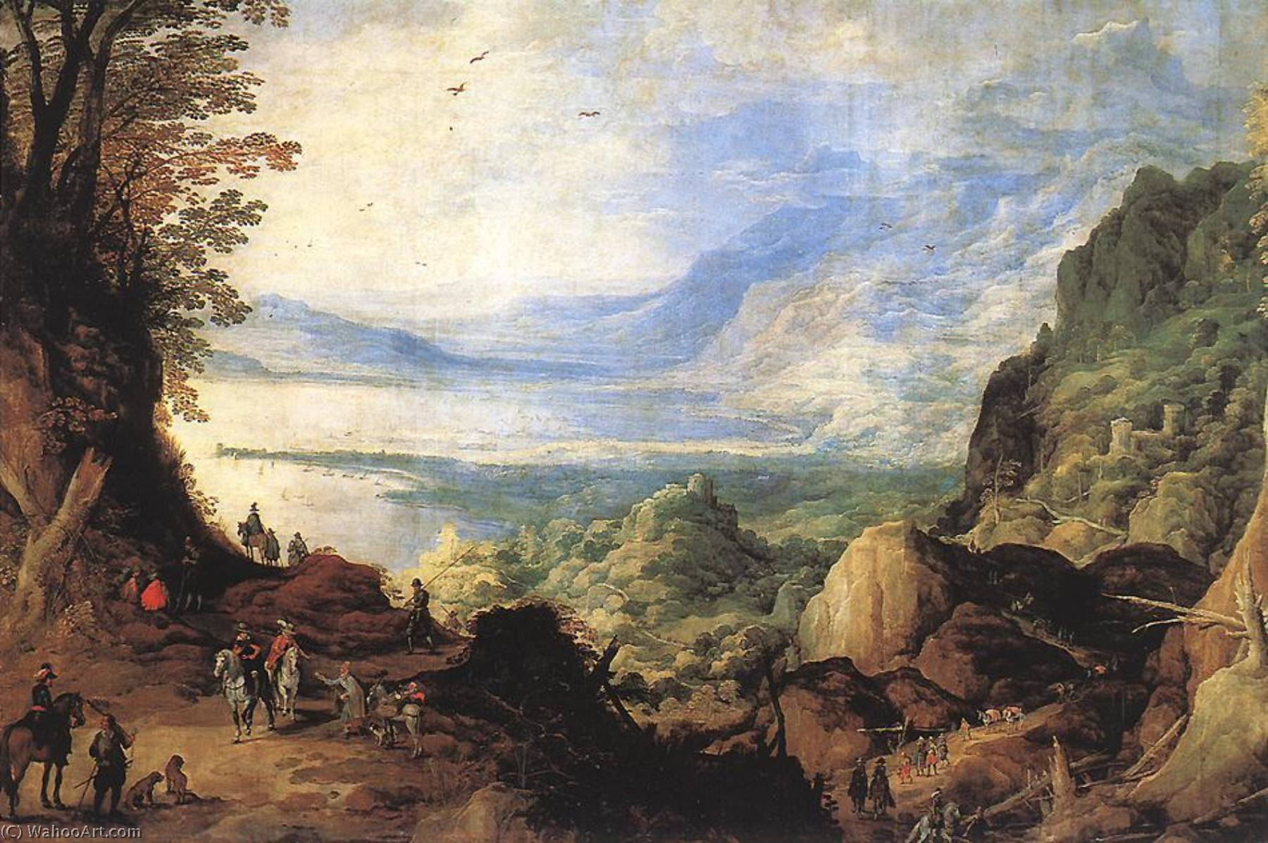 Landscape by Joos De Momper The Younger (1564-1635) | Museum Quality Reproductions | WahooArt.com