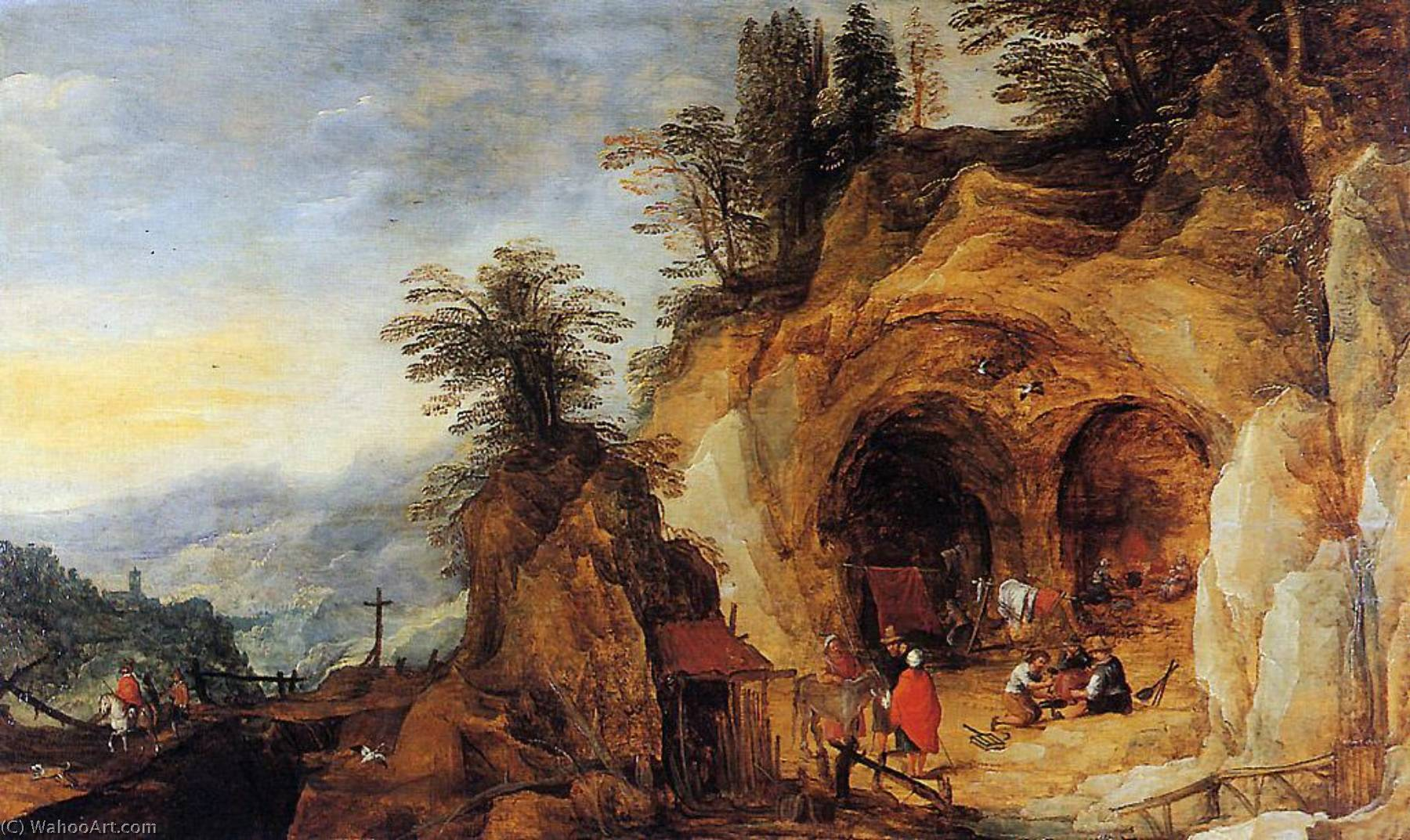 Mountainous Landscape with Caves by Joos De Momper The Younger (1564-1635)