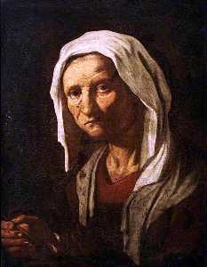 Giacomo Francesco Cipper - Head of a Peasant Woman