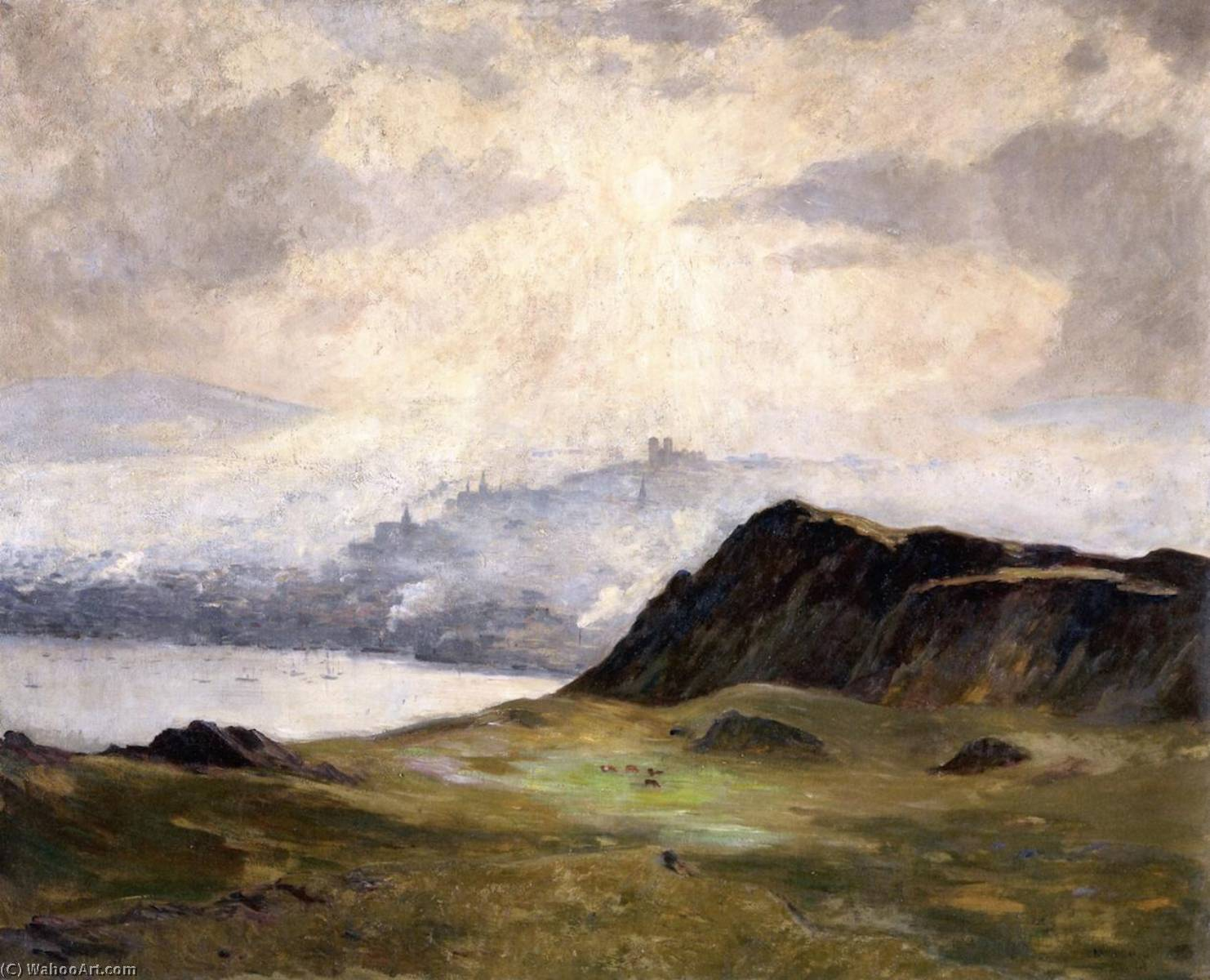 Misty Afternoon, St. John`s, Newfoundland, 1910 by Maurice Cullen (1866-1934, Canada) | Paintings Reproductions Maurice Cullen | WahooArt.com