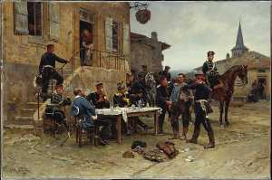 Order Museum Quality Reproductions : The Spy, 1880 by Alphonse Marie Adolphe De Neuville (1836-1885, France) | WahooArt.com