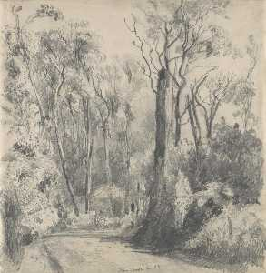 Louis Buvelot - Fernshaw (also known as Bush Scene with Horse and Rider)