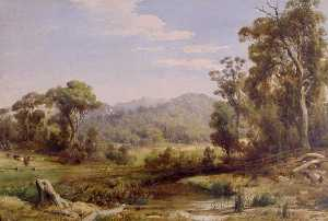 Louis Buvelot - The Macedon Ranges