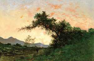 Jules Tavernier - Marin Sunset, Back of Petaluma