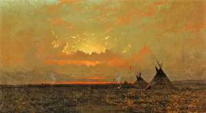 Jules Tavernier - Indian Encampment at Dusk