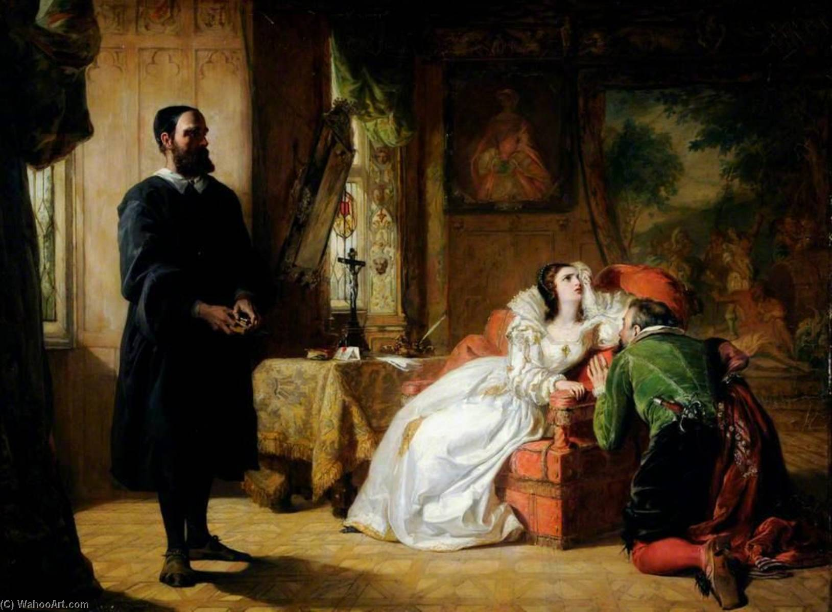 John Knox Reproving Mary, Queen of Scots, Oil On Canvas by William Powell Frith (1819-1909, United Kingdom)