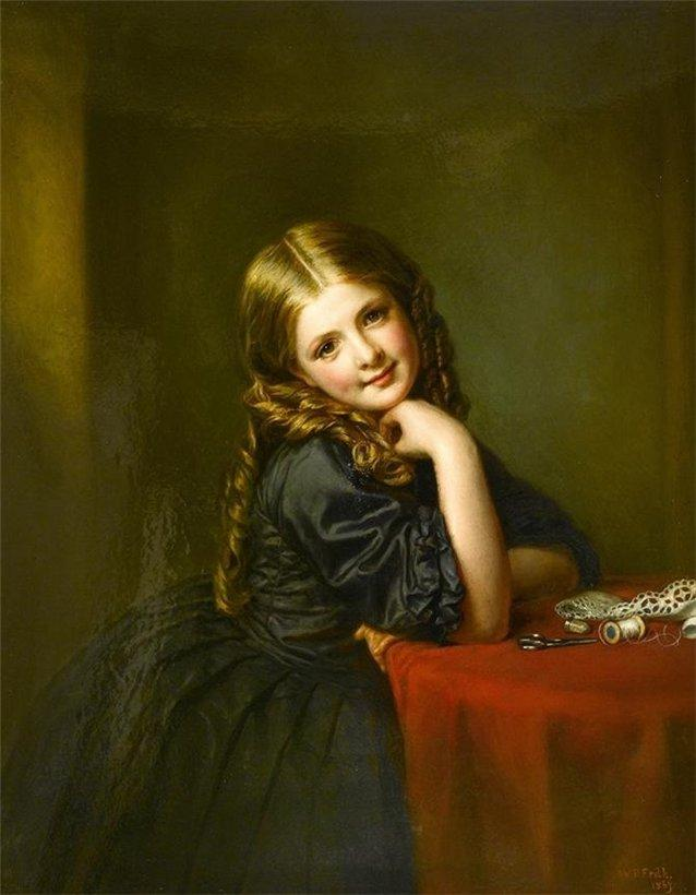 Little Seamstress, 1865 by William Powell Frith (1819-1909, United Kingdom)