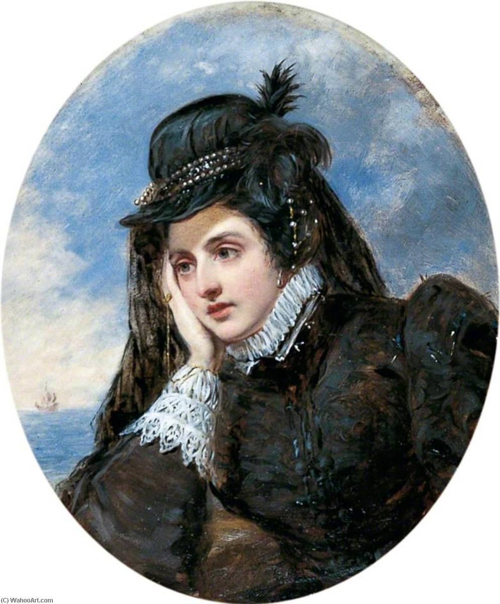 L`adieu de Marie Stuart, 1893 by William Powell Frith (1819-1909, United Kingdom) | Oil Painting | WahooArt.com