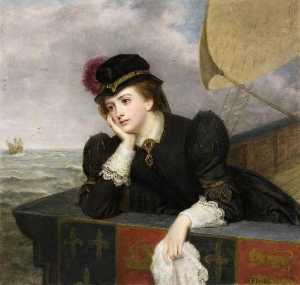 William Powell Frith - Mary, Queen of Scots Bidding Farewell to France, 1561