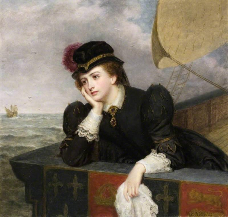 Mary, Queen of Scots Bidding Farewell to France, 1561, Oil On Canvas by William Powell Frith (1819-1909, United Kingdom)
