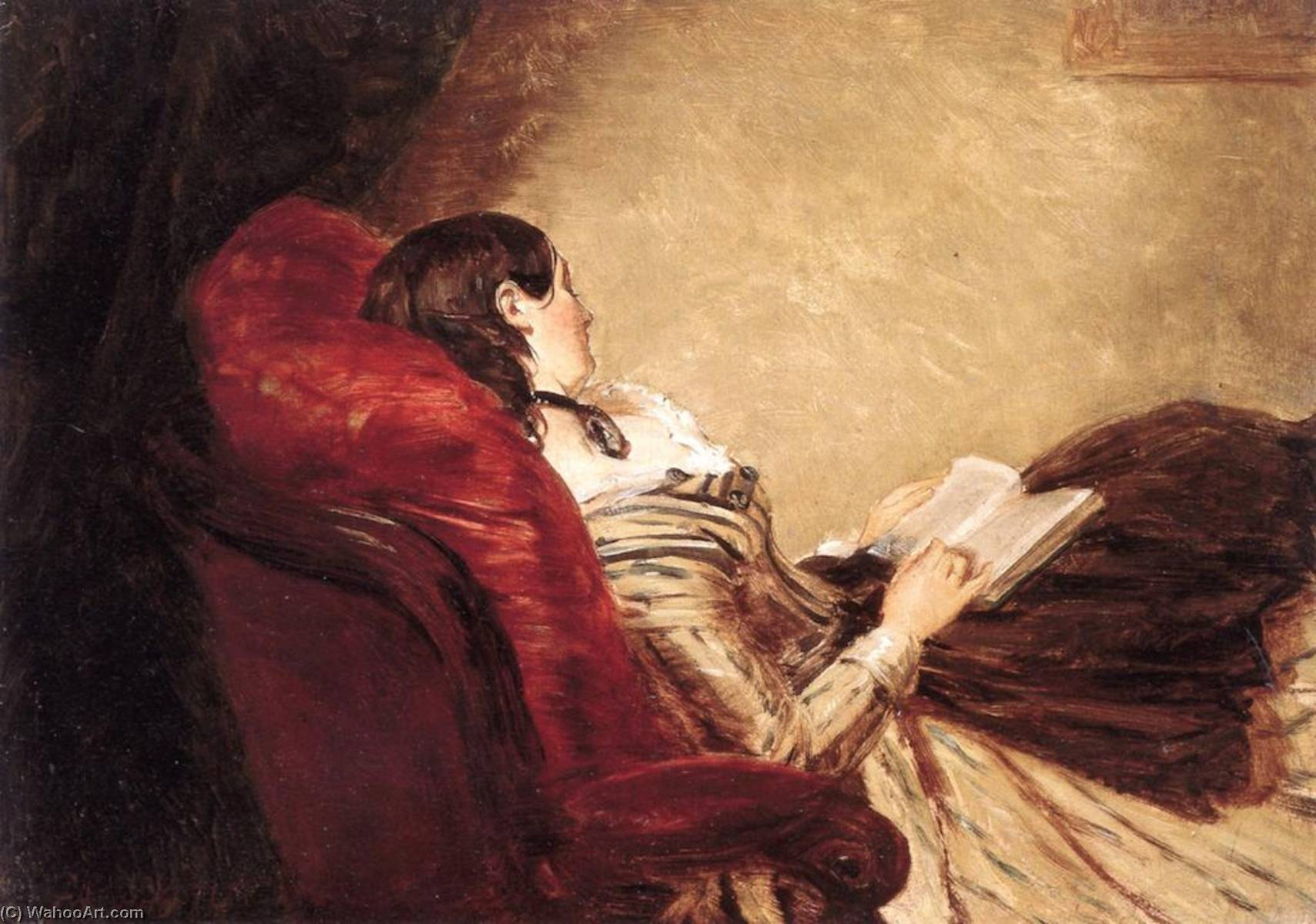 Isabelle Asleep, 1867 by William Powell Frith (1819-1909, United Kingdom) | Art Reproduction | WahooArt.com