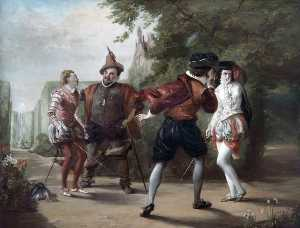 William Powell Frith - The Duel Scene from 'Twelfth Night' by William Shakespeare