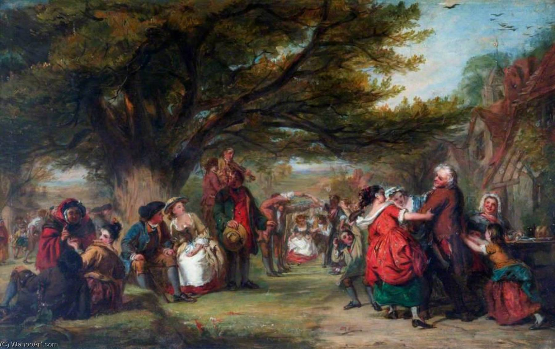 An English Merry Making, a Hundred Years Ago, Oil On Canvas by William Powell Frith (1819-1909, United Kingdom)