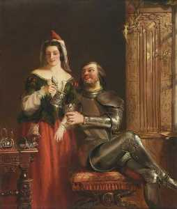 Buy Museum Art Reproductions | The Knight and the Maid, 1868 by William Powell Frith (1819-1909, United Kingdom) | WahooArt.com