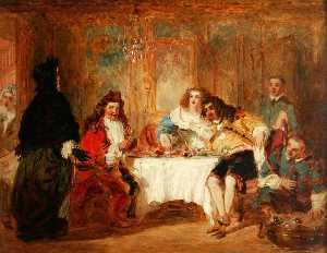 William Powell Frith - Mme Jourdain Discovers Her Husband at the Dinner Which He Gave to the Marquise and Count Dorante