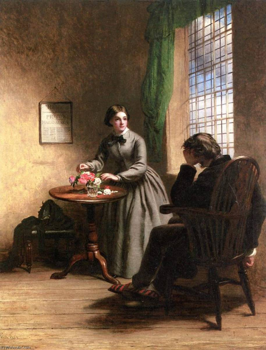 Little Dorrit, 1859 by William Powell Frith (1819-1909, United Kingdom) | Museum Quality Reproductions | WahooArt.com