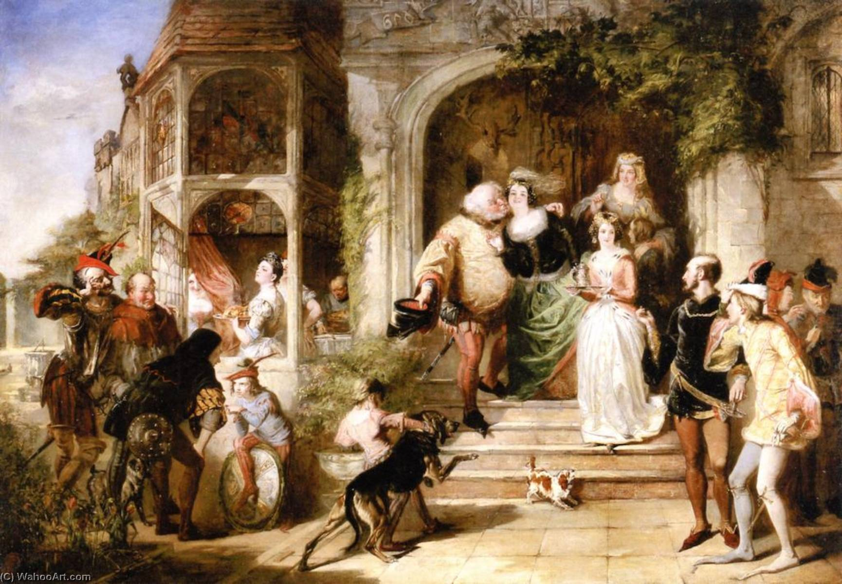 The Merry Wives of Windsor, 1843 by William Powell Frith (1819-1909, United Kingdom) | Painting Copy | WahooArt.com