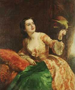 William Powell Frith - The green parrot