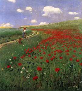 Pal Szinyei Merse - Poppies in the Field
