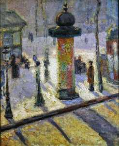 Louis Anquetin - Kiosk on the Boulevard Clichy