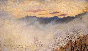 Vittore Grubicy De Dragon - Fog in the Mountains