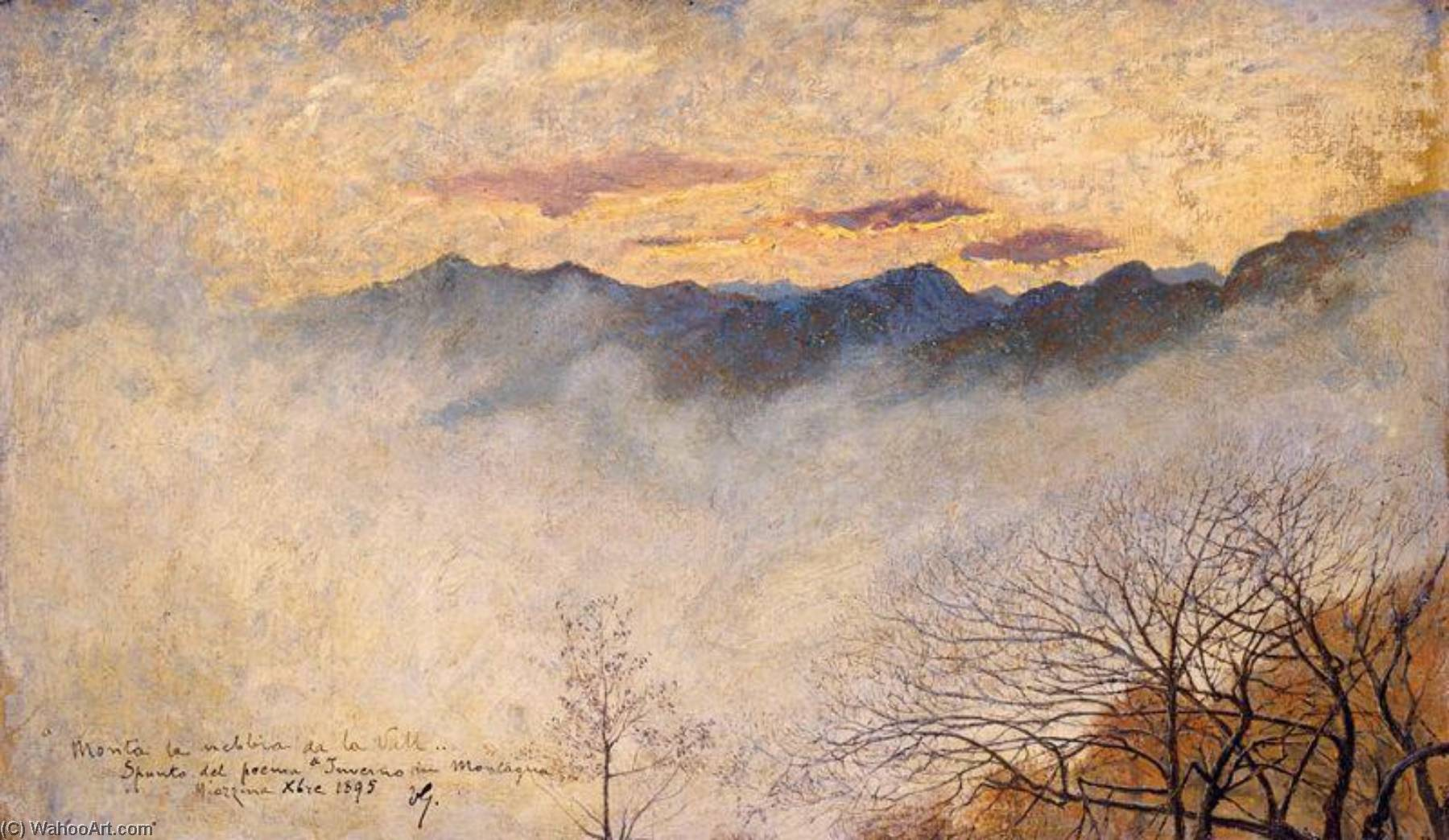 Fog in the Mountains, Oil On Canvas by Vittore Grubicy De Dragon (1851-1920)
