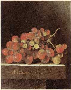 After Adriaen Coorte - English Grapes on a Ledge