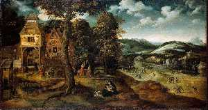 Joachim Patinir - Flight into Egypt