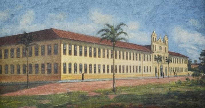 Old Seminary of Luz by Benedito Calixto (1853-1927, Brazil) | Oil Painting | WahooArt.com