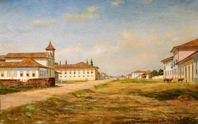 Brás church in 1860, 1919 by Benedito Calixto (1853-1927, Brazil) | Oil Painting | WahooArt.com