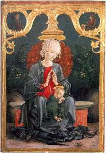 Cosmè Tura - English Madonna and Child in the Garden