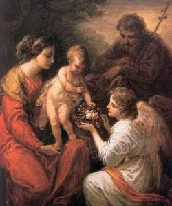 Angelica Kauffman (Maria Anna Angelika) - Holy Family with an angel