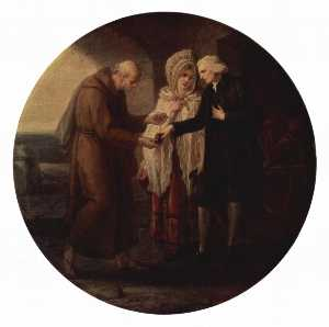 Angelica Kauffman (Maria Anna Angelika) - The Monk from Calais