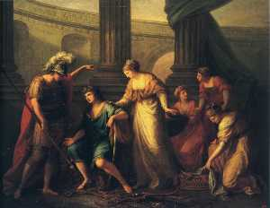 Angelica Kauffman (Maria Anna Angelika) - Hector Calls Paris to the Battle