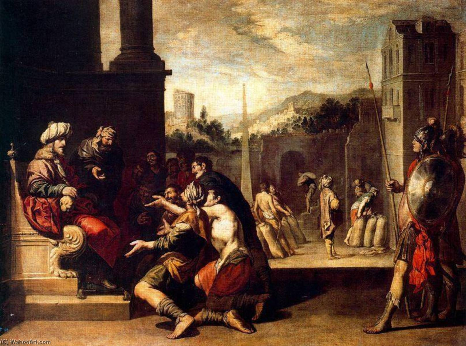 Buy Museum Art Reproductions | Joseph ordered the prison to Gideon by Antonio Del Castillo (1616-1668, Spain) | WahooArt.com