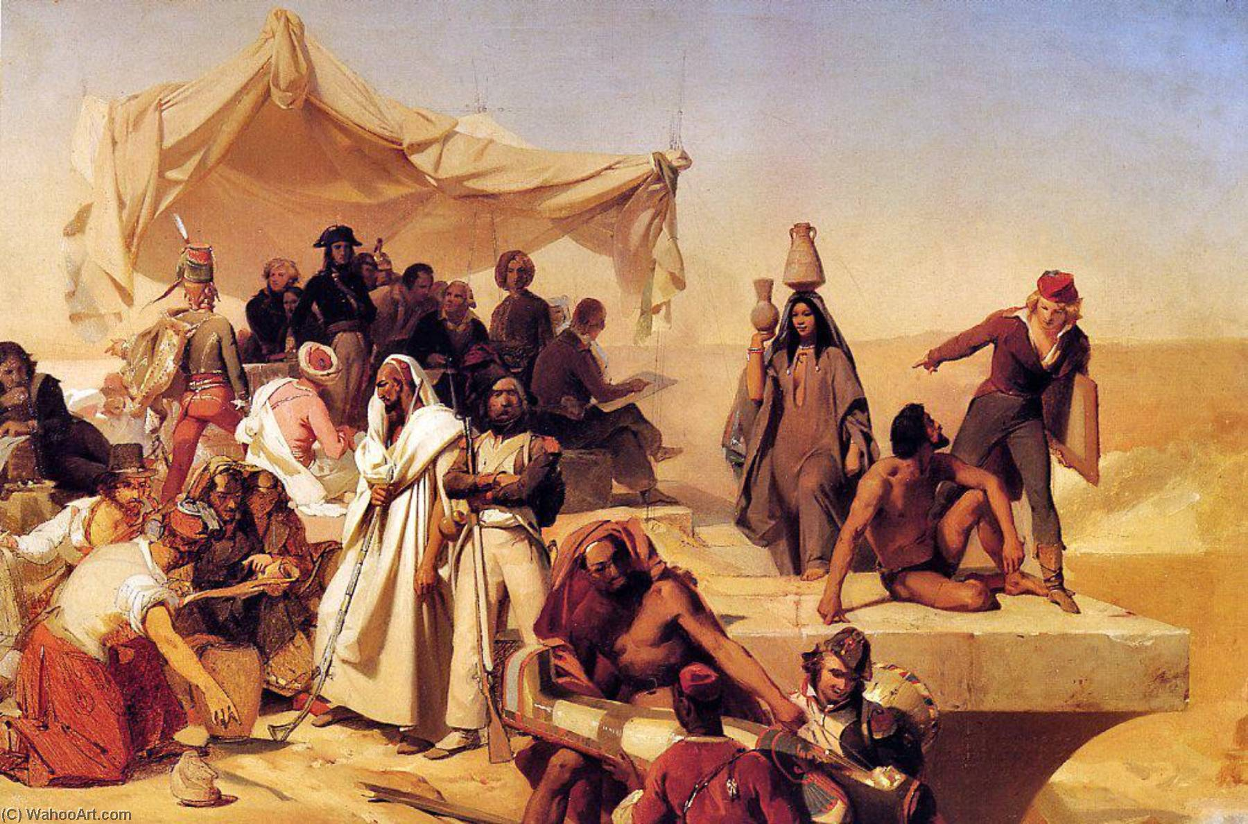 The Egyptian Expedition Under the Command of Bonaparte by Léon Cogniet (1794-1880, France)