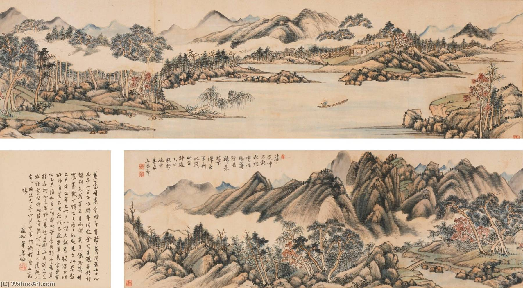 AUTUMN LANDSCAPE by Wang Yuanqi (1642-1715, China) | Painting Copy | WahooArt.com