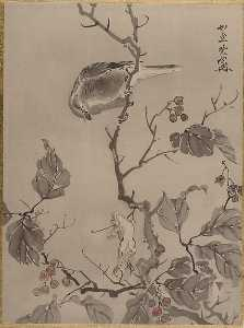 Kawanabe Kyōsai - Bird and Frog
