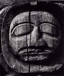 Brett Weston - Untitled (Carved Wooden Face)