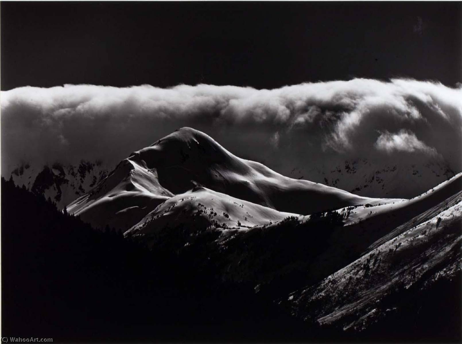 Untitled (Snow Covered Mountains), 1973 by Brett Weston (1911-1993, United States) |  | WahooArt.com
