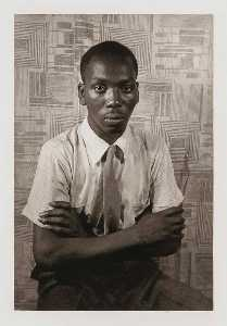Carl Van Vechten - Jacob Lawrence, from the portfolio O Write My Name American Portraits, Harlem Heroes
